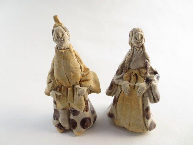 ちび立ち雛人形 -黄×茶-の画像1枚目