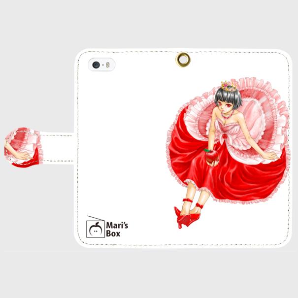 【受注生産】オリジナルデザインiPhoneケース【QueenApple】の画像1枚目