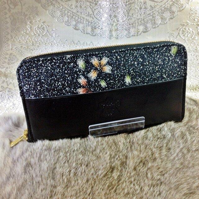 ラウンドジップ長財布「桜」の画像1枚目