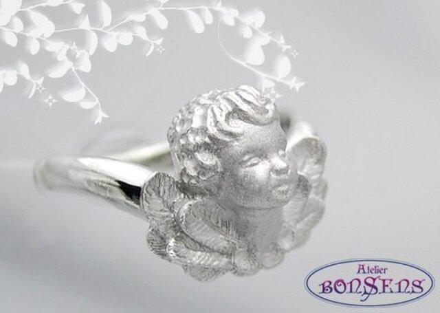 ラッキーモティーフ 天使 エンジェル リング Silver 925 サイズ#7~#18の画像1枚目