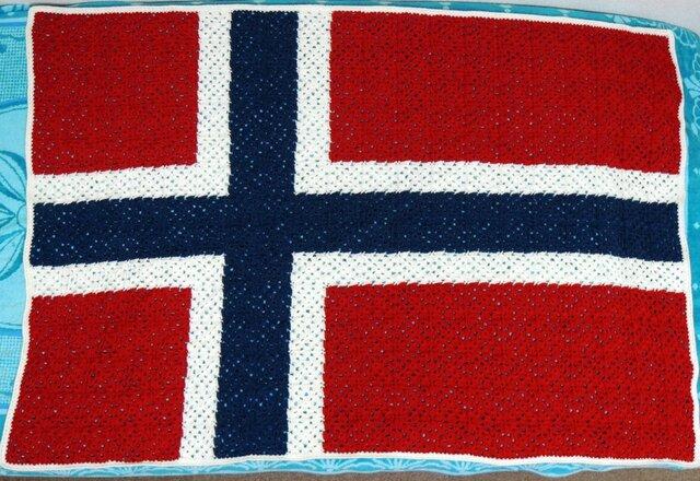 ノルウェー国旗のブランケットの画像1枚目