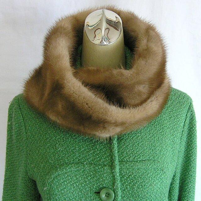 ¶ new antique fur ¶ パステルミンクファーnejiriスヌード「passo」再販の画像1枚目