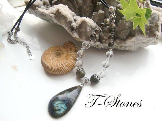 霊性を高める石 ラブラドライト ネックレスの画像1枚目