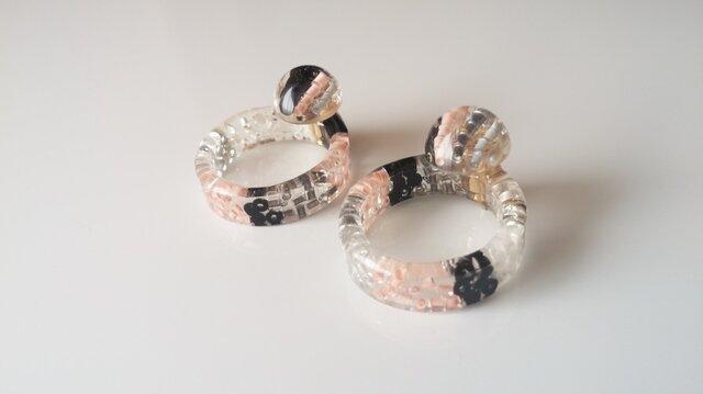 送料無料『ring』catch pierce /sakuraの画像1枚目