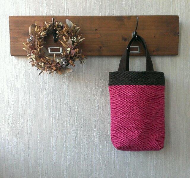 裂き織りのまいにちバッグ ピンクの画像1枚目