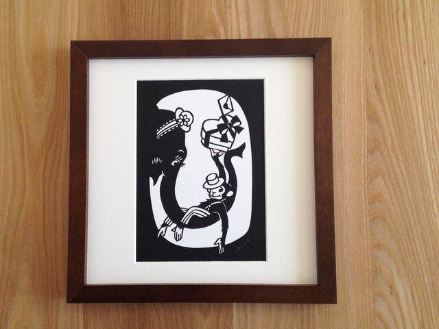 切り絵のサーカス「ゾウと」の画像1枚目