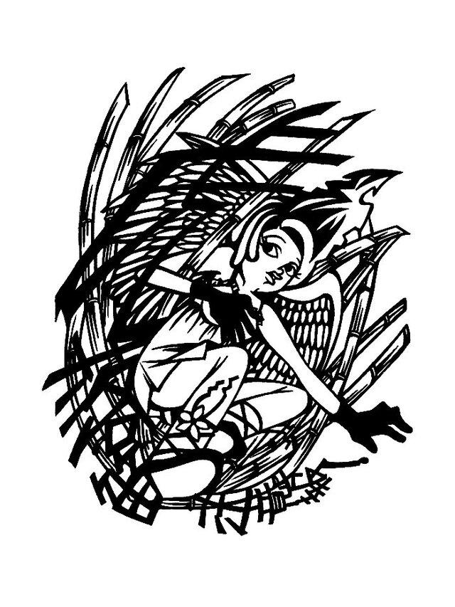 メッセージ切り絵 〜虎落笛〜の画像1枚目