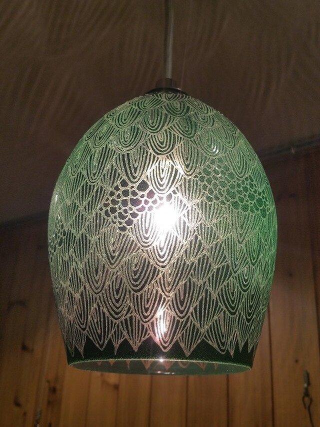 shadow lamp (Green つぼみ型)の画像1枚目