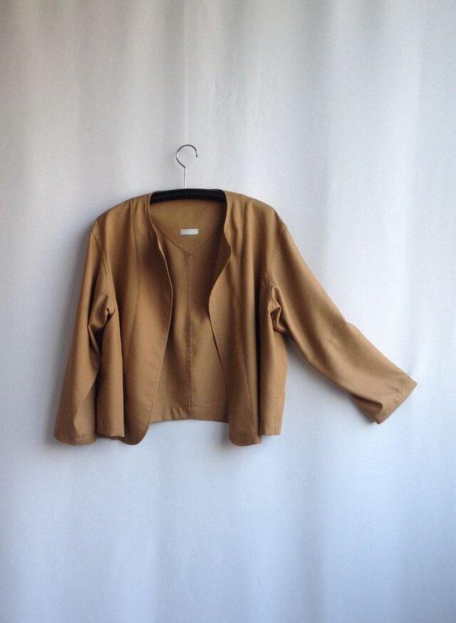 出番の多いショートジャケット  ビエラ ・ミルクティー色の画像1枚目
