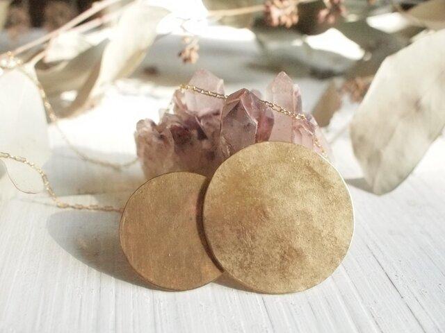 カサナルお月様 真鍮ネックレス №2の画像1枚目