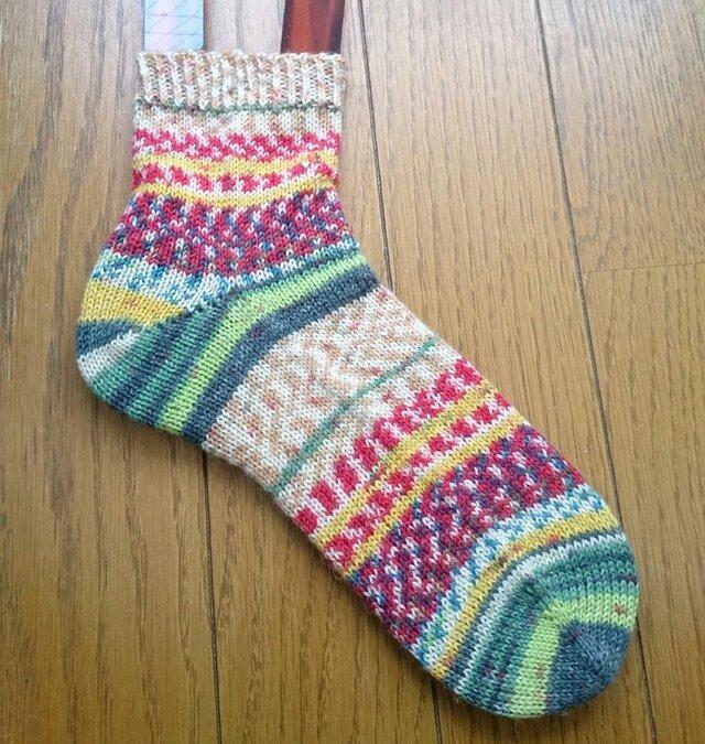 手編み靴下 opal  Hundertwasser 2104の画像1枚目
