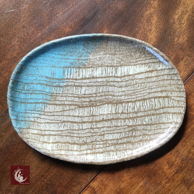 彩 楕円皿の画像1枚目