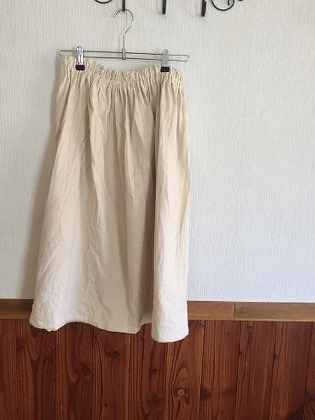 表起毛 Wガーゼのスカート M~Lの画像1枚目