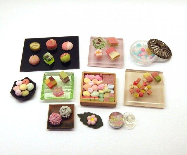 ミニチュア 春の和菓子 ひな祭り ドール にもの画像1枚目