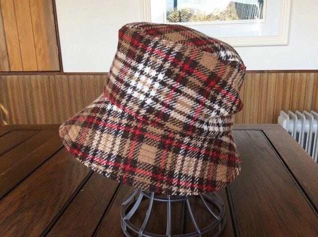 Harris Tweedハリスツイードの帽子*チェック~UV&防寒対策にの画像1枚目