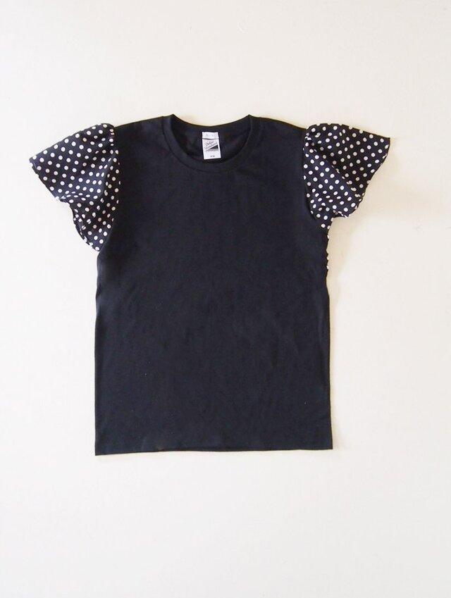 black:dotsバタフライスリーブ Tシャツの画像1枚目