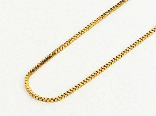 別売K18YGチェーンNo.1:ベネチアン【Pio by Parakee】gold venetian chainの画像1枚目