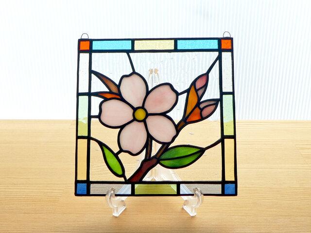ステンドグラス ミニパネル 桜ii 15cmの画像1枚目
