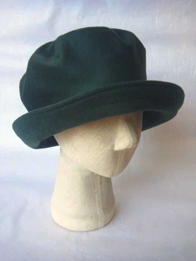 フワッと大きい帽子(カシミヤ)の画像1枚目