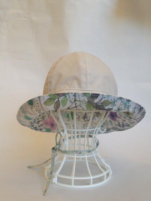 受注製作 リバティ雨帽子 リバーシブルレインハット 59の画像1枚目