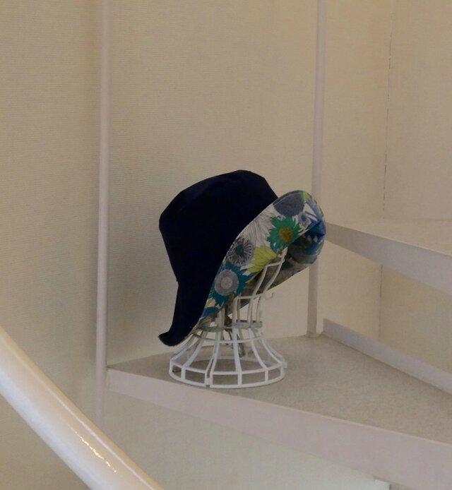 リバティ雨帽子 リバーシブルレインハット 59の画像1枚目
