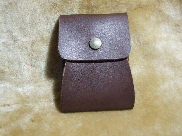 コンパクト カードケース♪ (ブラウン)の画像1枚目