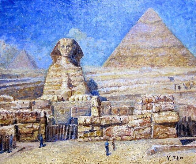 大スフィンクスとピラミッドの画像1枚目