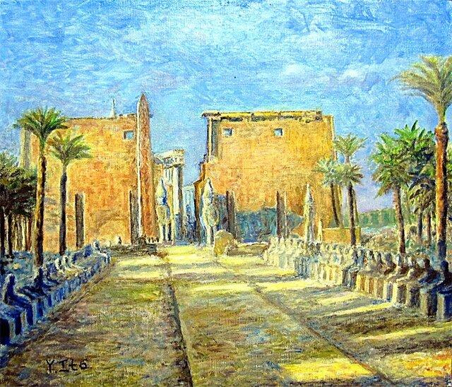 早朝のルクソール神殿の画像1枚目