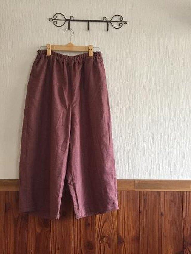 リネンのゆったりシャムパンツ M~Lの画像1枚目