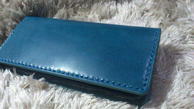 iPhone6/6s(4.7インチ)☆ヌメレザーケースⅣ☆ブルーの画像1枚目