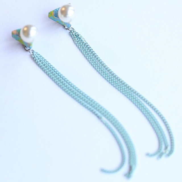 △ chain mint ピアスの画像1枚目