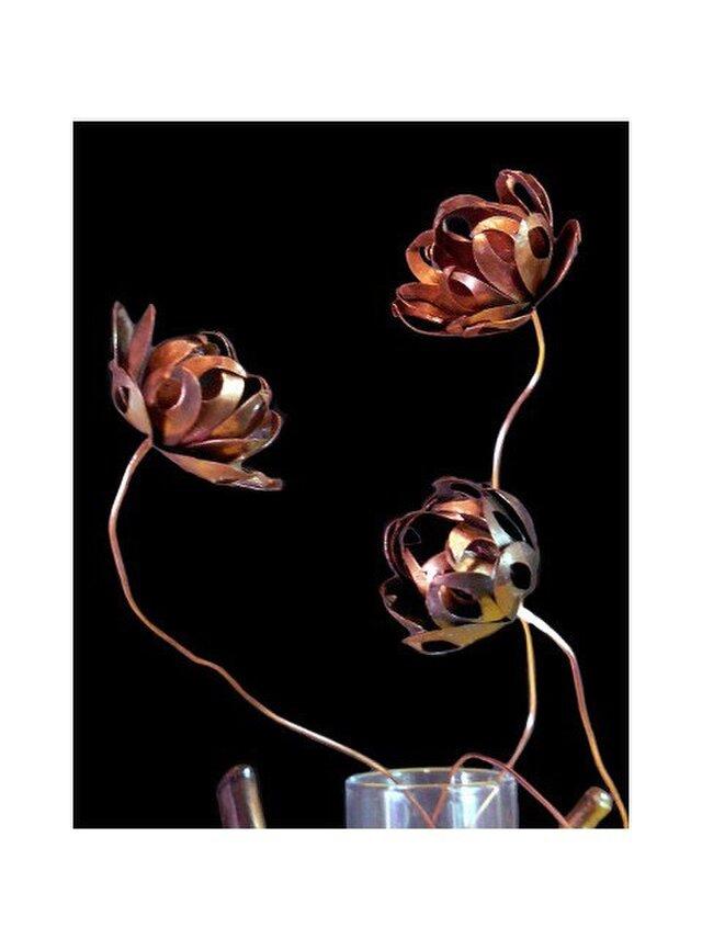 銅のロータスフラワー 蓮の画像1枚目