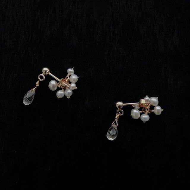 [ symphonie ]  ジルコン fleur de la perle(天然石/K14gf)の画像1枚目