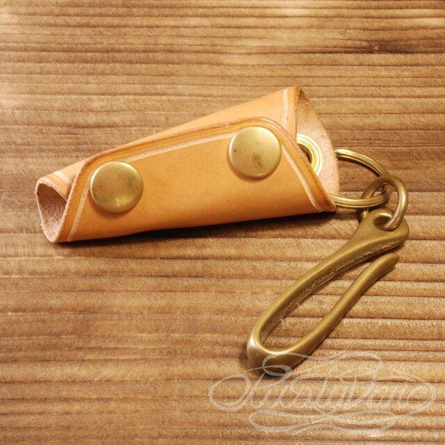 レザーキーケース -ヌメ革の画像1枚目