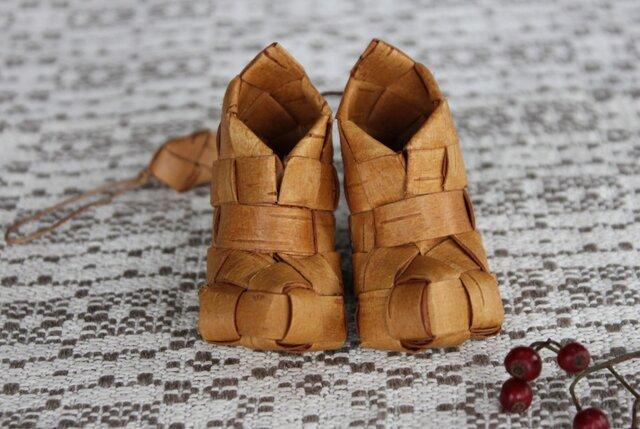白樺の小さな靴 〈ブーツ型 1 〉の画像1枚目
