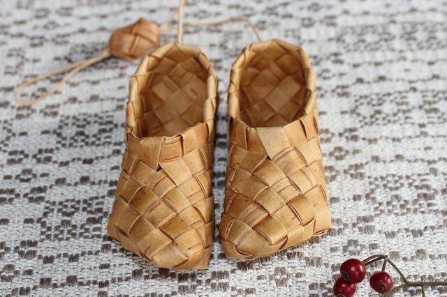 白樺の小さな靴 〈右左のある平靴〉の画像1枚目