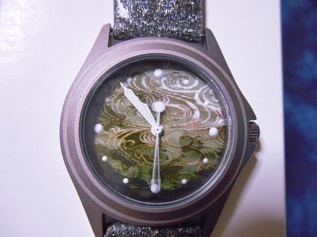 #琳派 #流水 #腕時計 #金彩加工ベルトの画像1枚目