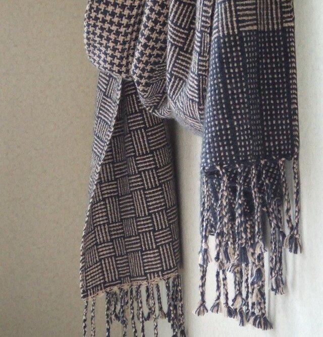 手織りカシミアストール・・バーブシュカ(亜麻色)の画像1枚目