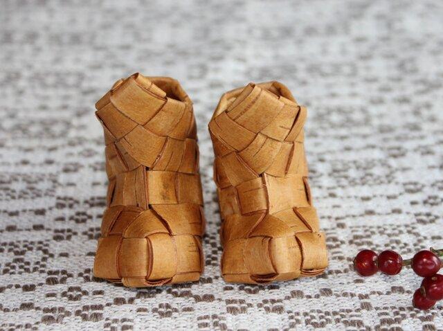 白樺の小さな靴 〈ブーツ型 2 〉の画像1枚目