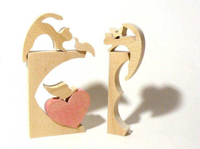 恋猫 (動物パズル積木-ハート&アニマル-)の画像1枚目