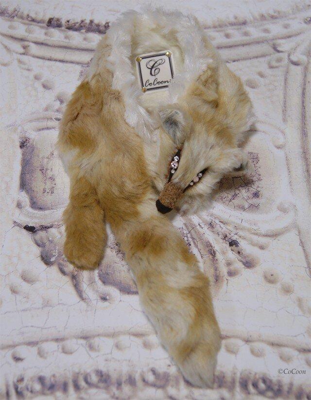 Fox muffler/Size:L#Vanilla latte/Eye:Rhinestoneの画像1枚目