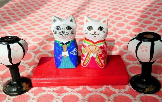 猫雛人形 Fの画像1枚目