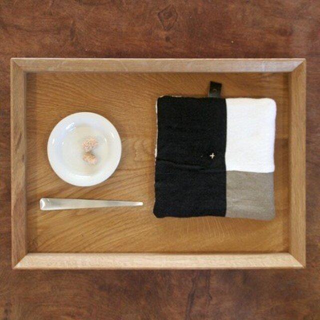 Pot Mat 黒×白×ベージュの画像1枚目