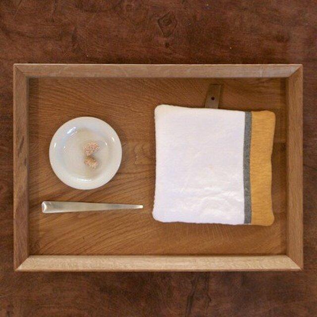 Pot Mat 白×グレー×黄の画像1枚目