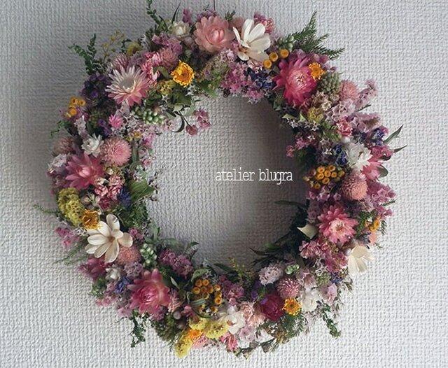 八ヶ岳〜春待ち色小花のWreath01の画像1枚目