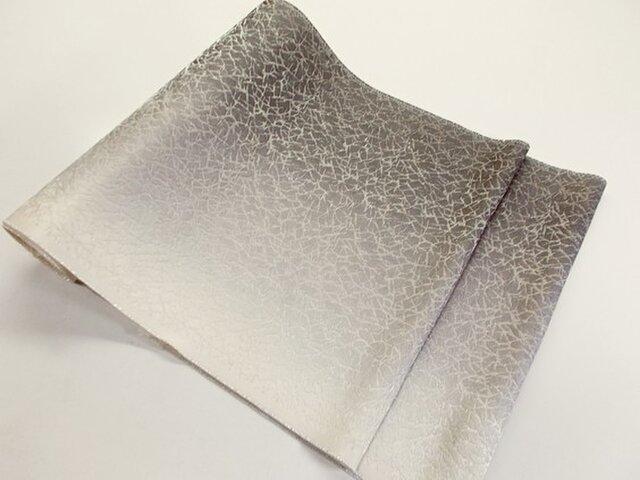 袋帯(氷割れ地紋片側ボカシ染)の画像1枚目