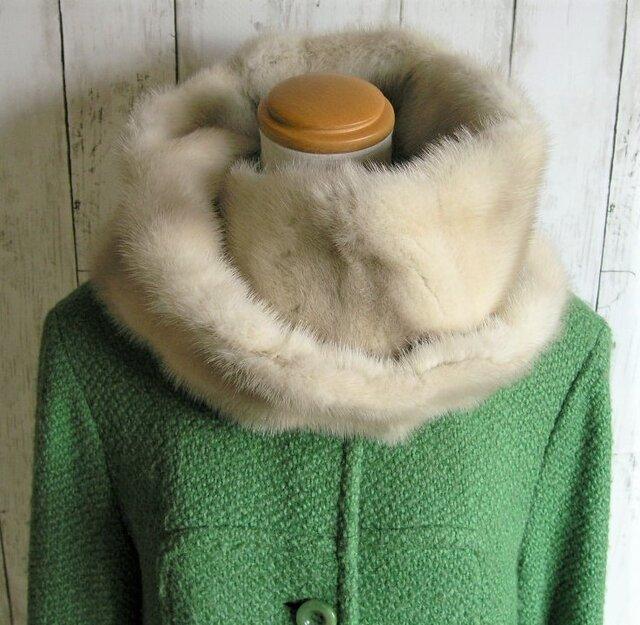 ¶ new antique fur ¶ ヴァイオレットミンクゆったりnejiriスヌード「elegante」の画像1枚目