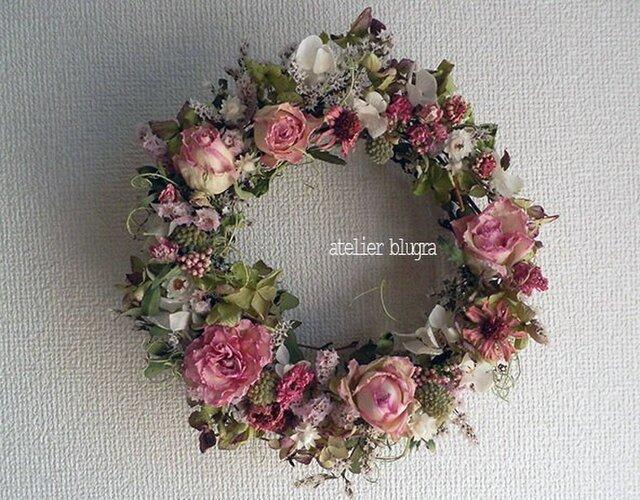 八ヶ岳〜春待ち色ジニアと薔薇のWreath07の画像1枚目