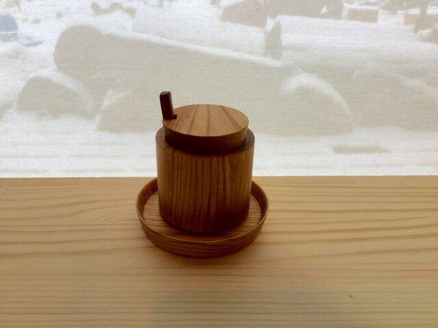 【受注制作】森のクマさんカフェからWoodリトルポットの画像1枚目