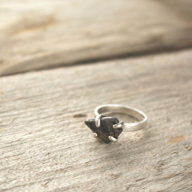 Apache Gold Ring Sterling Silverの画像1枚目